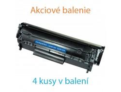 4x Toner HP Q2612A, Black, kompatibilný