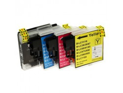 Cartridge Brother LC-1100VALBP, multipack CMYK, kompatibilný