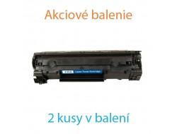 2x Toner HP CB436A, Black, kompatibilný